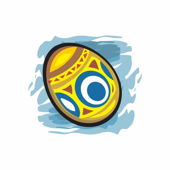 Easter Egg Geometric Abstract Sticker