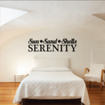 Sun Sand Shells Serenity Decal