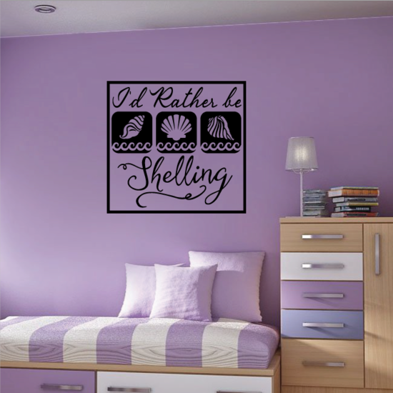 Id Rather Be Shelling Decal