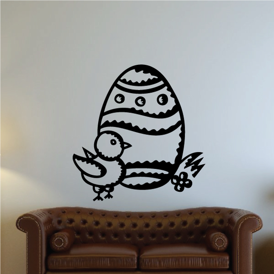 Chick And Easter Egg Decal