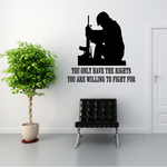 The Rights You Are Willing To Fight For Praying Soldier Decal