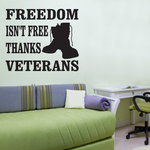 Thanks Veterans Boots Decal
