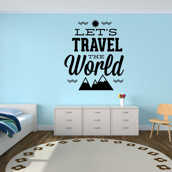 Lets Travel The World Decal