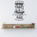Voyage Travel and Change Of Place Wall Decal