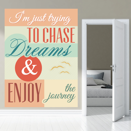 Im Just Trying to Chase Dream and Enjoy the Journey Sticker