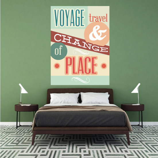 Voyage Travel and Change of Place Sticker