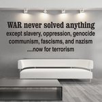 War Never Solved Anything Decal