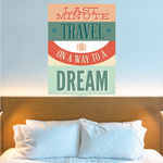 Last Minute Travel on a Way to a Dream Sticker