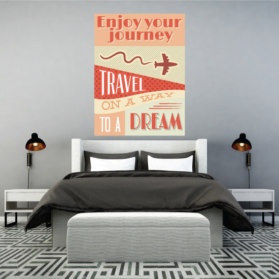 Enjoy your Journey Travel on a Way to a Dream Sticker