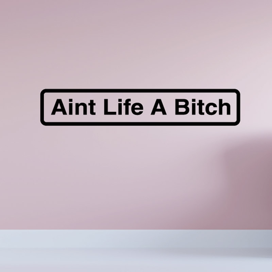 Aint life a bitch Decal