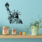 Statue of Liberty Bust with Torch Decal