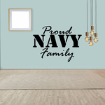 Proud Navy Family Decal