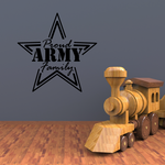 Proud Army Family Star Outline Decal