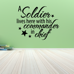 A Soldier Lives Here Wall Decal