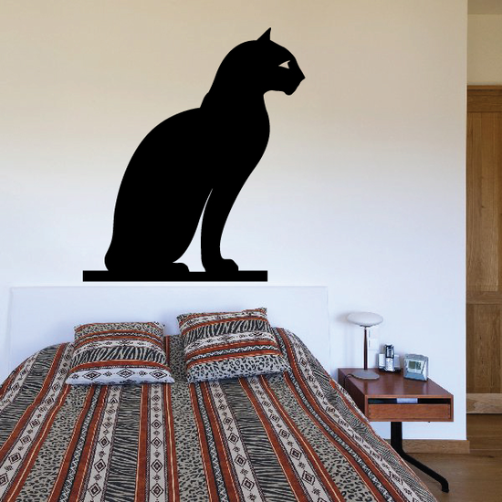 Egyptian Cat Silhouette Decal