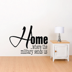 Home… Where the Military Sends Us Wall Decal