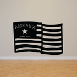 America Flag Since 1776 Wall Decal