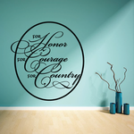 Honor Courage and Country Wall Decal