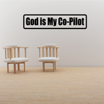 God is my co-pilot Decal