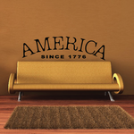 America Since 1776 Wall Decal