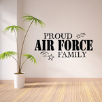 Proud Air Force Family Stars Decal