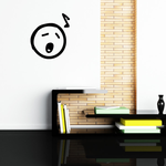 Singing Emoticondoodle Wall Decal - Vinyl Decal - Car Decal - Id011