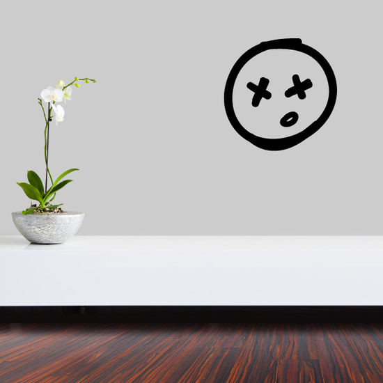 Dead Emoticondoodle Wall Decal - Vinyl Decal - Car Decal - Id014