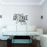 Proud Air Force Family Script  Decal