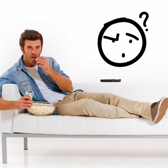 Confused Emoticondoodle Wall Decal - Vinyl Decal - Car Decal - Id020