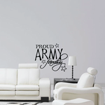 Proud Army Family Script Decal