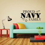 Proud Navy Family Stars Decal