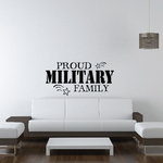 Proud Military Family Stars Decal