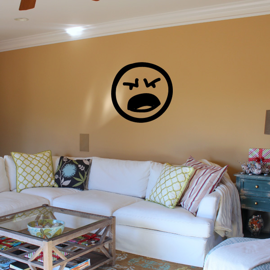 Emoticondoodle Wall Decal - Vinyl Decal - Car Decal - Id044