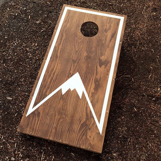 Cornhole Mountain board Decal