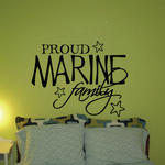 Proud Marine Family Script Decal