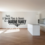 Special Place for a Marine Family Decal