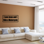 I love Jesus and I ride a motorcycle Decal