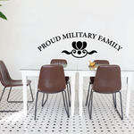 Proud Military Family Flower Decal