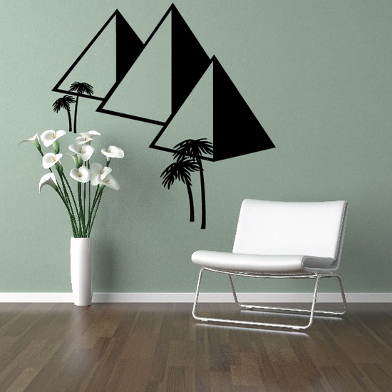 Great Pyramids of Ghiza Egyptian Wall Decal - Vinyl Decal - Car Decal - MC57