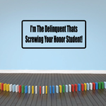 I'm the deliquent that's screwing your honor student Decal