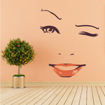Face Expression Female Wall Decal - Vinyl Decal - Car Decal - Idcolor003