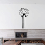 Lotus Egyptian Wall Decal - Vinyl Decal - Car Decal - MC60