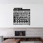 Wise Brave and Strong Quote Decal
