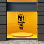 Fathers Day Sale Decal