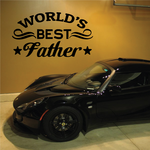 Worlds Best Father Decal