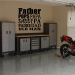 Dad Synonyms Decal
