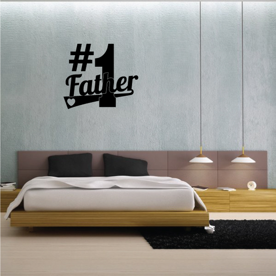 #1 Father Decal