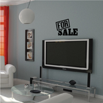 For Sale Sign Decal - Vinyl Decal - Car Decal - 001