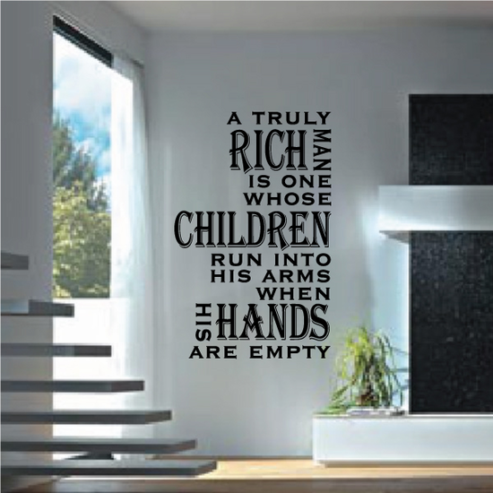Rich Man Quote Decal
