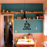 Coffee Sign Wall Decal - Vinyl Decal - Car Decal - 003